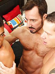 Huge dicks rubbing together and biting boobs very hardly image at Bang Me Sugar Daddy