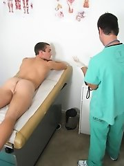 The Doc said that he was done doing the exam the only thing that he had red was to get a test from me gay suck twink