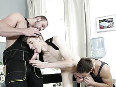 Bareback s gay porn video and twinks bare footed at Staxus