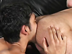 We managed to pry them open and made sure once we were in he wouldn't forget his first huge cock gay hunk fucking