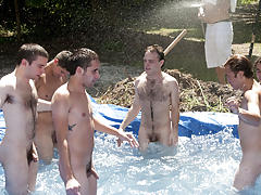 I mean its not embarrassing sufficiently playing stripped in a naughty fake pool free group gay sex videos