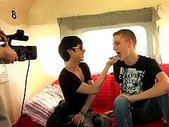 After a quick introduction, these boys waste zero time taking off each other's clothes and fucking like rabbits his first gay blowjob