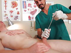 Spurting cumshots hard dicks and penis medical exam fetish