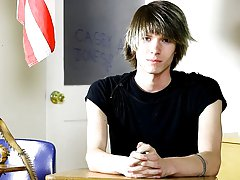 He's cute and very adventurous as he talks about his professional go-go dancing in New York City gay teen twink cum at Teach Twinks