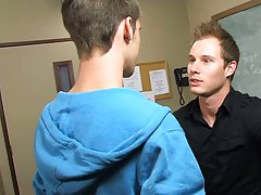 The student's tight hole drives Tyler crazy first time gay boy story at Teach Twinks