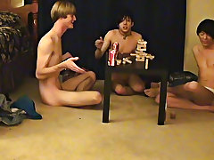 """"""" This is a lengthy episode for you voyeur types who like the idea of watching those guys receive naked, drink, talk and play indecent games firs"""