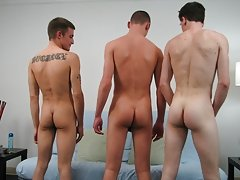 After a moment or two, Ryan, kneeling behind Leon, pushed Leon forward and thrust inside in one go guys gay group sex