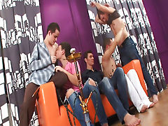 Yahoo group gay bukkake and gays in group sex at Crazy Party Boys