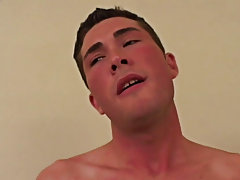 He grabs that lollipop and embarks to stroke it.  Shane moans out his sensation with each and every stroke of the hand.