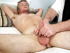 As I watched him jerking on his cock I couldn't help myself and got involved clips of gay self masturbation
