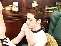 Young fucking older gay and big cock rips twink boy ass at My Gay Boss