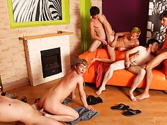 Group sex male and gay mad group sex at Crazy Party Boys
