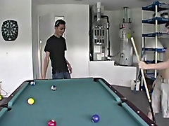 Horny Buds play a game of 'Strip Pool' then Fuck gloryhole gay twinks