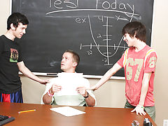 Kyler Moss and Ryan Sharp have seen the way their teacher, Drake Mitchell, eyes 'em in class, so they decide to make their move gay porn hot stud