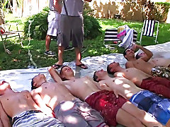 he had all his pledges laying down and they each took turns sliding on top of each other gay group orgy pics