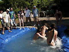 There is no thing like a priceless summer time splash, especially when the pool is chap made and ghetto rigged as fuck asian gay group sex