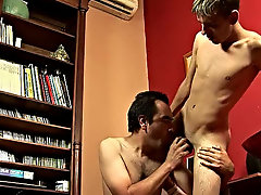The twink was in the mood for the treatment of sex, so he started his night with a bit of gay smut gay twink and old