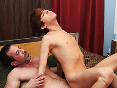 After his mom caught him fucking his tutor, Kyler Moss was banned from seeing Mike Manchester... but Mike sneaks in just to watch him gay self anal fi