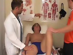 The doctor started to lick my asshole, but the tutor said that he was a professional so I subside him continue free gay anal orgies