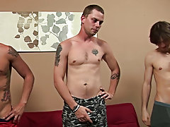 Group men pissing and gay group