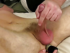 As I watched him jerking on his dick I could not help myself and got involved gay jerk off free