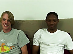 Flipping Corey over onto his back, Jamal slid right back in gay interracial group