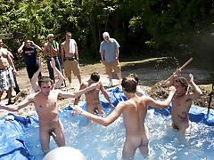There is nothing like a priceless summer time splash, especially when the pool is chap made and ghetto rigged as fuck long gay group sex