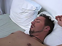 He doesn't induce much noise when he cums, but he blows a huge load all over his stomach public gay blowjobs