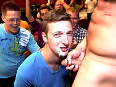 Group sex lucky guy and group masturbation male at Sausage Party