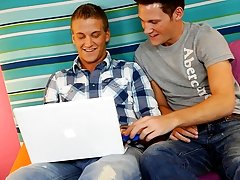 These two studs Cameron Greenway and Ryan Stone are young, hot, and horny. They're just stringing up around the bed, playing on the computer and