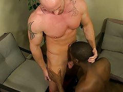JP receives down to service Mitch's hard weenie previous to he impales himself and rides it interracial guys gay at My Gay Boss