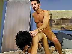 He paddles the bound guy until his wazoo is red before freeing him from some of the restraints so he can feed him his cock free gay hardcore movies at
