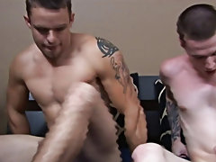 Young muscle flexing black twinks and crippled twinks