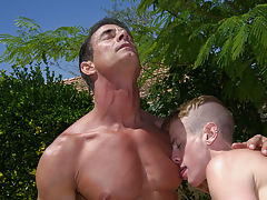 Young gay studs fucking for first time and big shaved flaccid cock at Bang Me Sugar Daddy