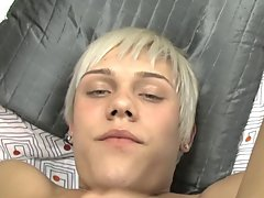Twink cocks sticking out of underwear and shaved male cum video at Boy Crush!