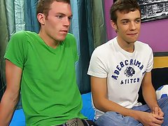 Gay twinks stripping and first time gay blowjob - at Real Gay Couples!