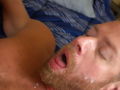 Hairless boy being fucked in jockstrap and hot naked guys with blond hair and blue eyes at Bang Me Sugar Daddy