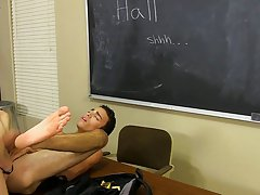 When Dustin offers to keep him company, this chab pretty soon finds himself bent over a desk with Elijah's large rod up his ass free clip twink a