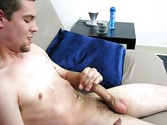 As his breathing deepens and his hand pounding his cock, JJ's cock really gets hard and he spews his hot cum shooting all over his chest and then
