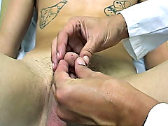 I massaged his prostrate for a small in number moments and the took my finger out and started jerking off his semi-hard cock