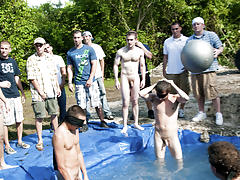 The winners of course were excempt from hell week but the losers had to pay the ultimate price group pissing guys