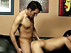 The older lover then aimed for the young man's poop chute with his cock get ready for action gay hunk nude