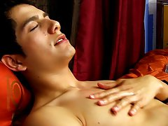 Young boy in a cute pajamas cum fed and milky twink tit at Boy Crush!
