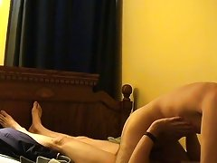When they switch to missionary and doggy, Trace really pounds him first time gay blowjob - at Boy Feast!