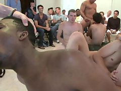 Gay group circle jerk off and group masturbation guys at Sausage Party
