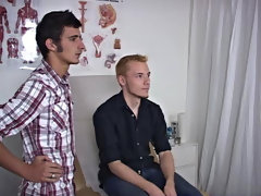 As Zak got into appropriate the doctor spread open his ass cheeks and applied some lube to his ass discrepancy hot gay guys group sex