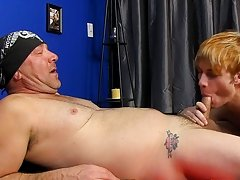 Preston services Tee-Cee on his knees before this guy takes a hard pounding in his constricted boy-hole and a hawt load of daddy's cum to his fac