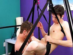 Cute twink boy kiss grope gay and twinks arse black gang bang at Boy Crush!