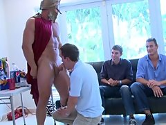 Dicks in face holes turned into schlongs in asses and cum on faces naked mens group at Sausage Party