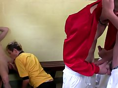 Gay twink locker room kiss soccer practice - Euro Boy XXX!